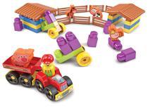Blocos de Montar Infantil Fazendinha Dismat 53 peças MK181 -