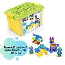 Blocos de Montar Infantil Super Caixa Divertida Dismat 120 peças MK170 -