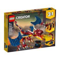 Blocos de Montar Lego Creator - Dragao do Fogo M. BRINQ -