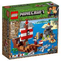 Blocos de Montar - LEGO Minecraft - A Aventura Do Barco Pirata M. BRINQ -