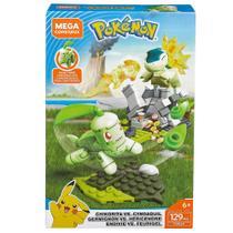 Blocos de Montar - Mega Construx - Playset de Batalha - Pokémon - Chikorita Vs Cyndaquil - Mattel -
