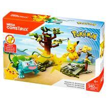 Blocos de Montar - Mega Construx - Playset de Batalha - Pokémon - Pikachu vs Bulbassauro - Mattel -