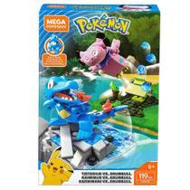 Blocos de Montar - Mega Construx - Playset de Batalha - Pokémon - Totodile Vs Snunnull - Mattel -