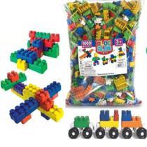 Blocos De Montar Monte Fácil Brinquedo Infantil 1000 Peças - Luc Toys