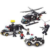 Blocos de Montar Policia Força Tática 499 Peças Indicado para +6 Anos Material Plástico Multikids - BR837 -