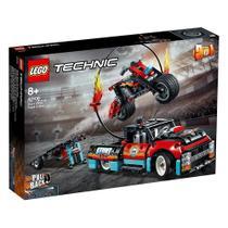 Blocos de Montar Technic Motocicleta e Caminhão de Acrobacias - Lego -