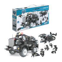 Blocos de Montar Xalingo Operaçoes Especiais Caminhão Tatico -
