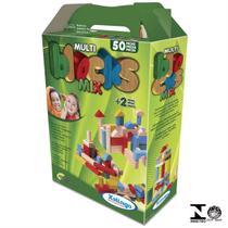 Blocos Educativos Infantil Colorido 50 Peças Xalingo -