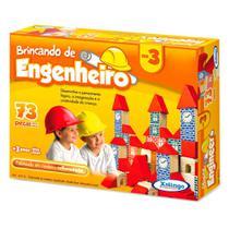 Bloquinhos de Madeira Brincando de Engenheiro nº3 - Xalingo -
