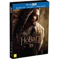 Blu-ray 3d + 2d Hobbit - A Desolação De Smaug 4 Discos - Warner home video