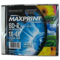 Blu Ray Disc BD-R Virgem - Gravável - Maxprint -