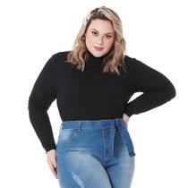 Blusa Cacharrel Gola Alta Feminina Plus Size 1130 - Mulher Única