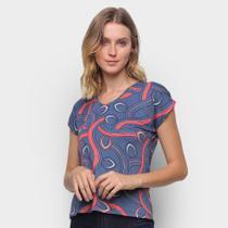 Blusa Cativa Abertura Ombro Estampada Feminina -