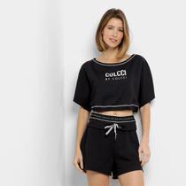 Blusa Colcci Fitness Cropped Feminina -