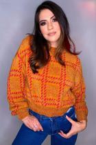Blusa de Frio Feminina Xadrez de Lã Moda Inverno - Fernanda Lago