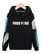 Blusa De Frio Moletom Angelical Free Fire - P (preto) - Maravs