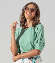 Blusa Feminina Creponada Endless Verde -