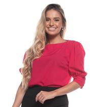 Blusa Feminina Lisa Manga Bufante Decote Ombro A Ombro - Teodoro Camisaria