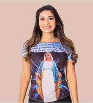 Blusa Feminina Nossa Senhora das Graças Maria Religiosa Baby Look - Templo Vivo
