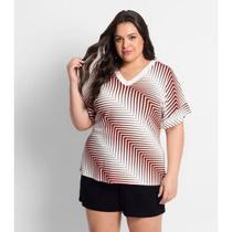 Blusa Feminina Plus Size Listrada - Audácia