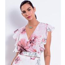 Blusa Feminina Richini Cropped Estampada 32567 -
