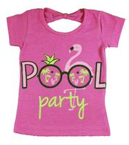Blusa Infantil (1/2/3) Flamingo Rosa - Nanny