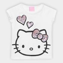Blusa Infantil Hello Kitty Glitter Paetês Feminina -