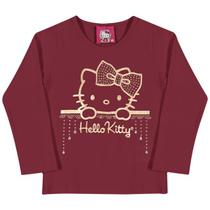 Blusa Laço - Bordo- Hello Kitty Baby