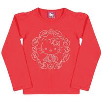 Blusa Laço - Coral - Hello Kitty Baby