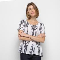 Blusa Lança Perfume Manga Curta Feminina -