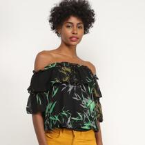 Blusa Lily Fashion Ciganinha Babado Feminina -