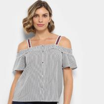 Blusa Lily Fashion Open Shoulder Feminina -