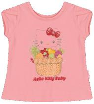 Blusa Manga Curta em Cotton Light - Hello Kitty
