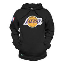 Blusa Moletom Canguru Basquete Los Angeles Lakers Unissex - Preto - Mh Shoes