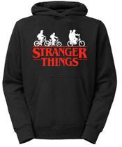 Blusa moletom canguru com capuz stranger things preto tamanho xg - Thrive