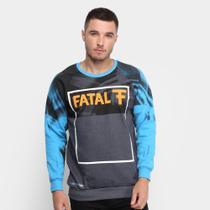 Blusa Moletom Fatal U Rag Logo Masculina -