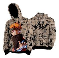 Blusa Moletom Naruto Nagato Pain Canguru Anime Mangá - Red Route