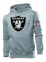 Blusa Moletom Oakland Raiders Nfl Casaco De Frio REF 118 - Bugado