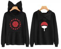 Blusa Moletom Orelhinha Naruto Sharingan 2.0 Clã Uchiha - Smart Stamp