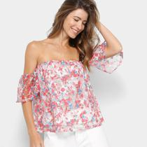 Blusa MS Fashion Ombro a Ombro Feminina -