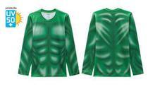 Blusa Proteção Solar Infantil Hulk Verde Marvel Músculos - Veggi