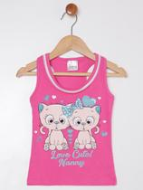Blusa Regata Infantil Para Menina - Pink - Nanny
