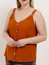 Blusa Regata Plus Size Feminina Caramelo - Eagle Rock