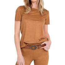 Blusa suede - Beleza pura moda