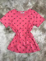 Blusa T-shirt Feminina Baby Look Estampas Abelha verão - Seven