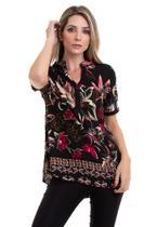Blusa Viscose Estampada Floral - Kinara