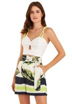 Blusa Zarky Cropped Laise Off White - Deep