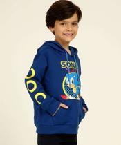 Blusão Infantil Moletom Estampada Sonic Tam 4 A 10 -