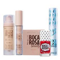 Boca Rosa Beauty By Payot Kit Make Basiquinha (Base 2+Corretivo 2+Pó Solto 2+Mascara de Cilios+Lip Tint) -