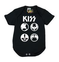 Body Banda de Rock 100 Algodão Kiss - Bebê